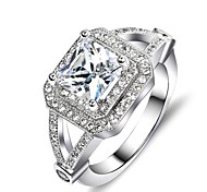 I FREE SILVER®Women's Valentine's Special Gift Mosaic Diamond S925 Silver Ring 1 pc