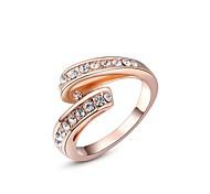 einfache Rose / weißes Gold überzog Ringe Modeschmuck beste Geschenk für Frau für Parteihochzeit
