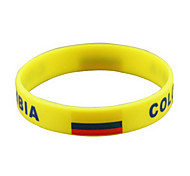 Colombia Flag Pattern 2014 World Cup Silicone Wrist Band