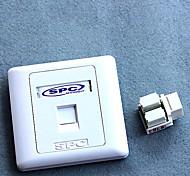 SHIPUCO 86-1005 RJ45 Computer Network Module Sockets Wall Plate - White