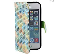 Coway Painted Triangle Sticking Cloth Mobile Phone Holster Case for iPhone5/5s(Assorted Color)