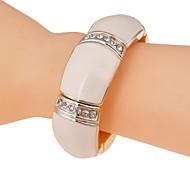 lureme®fashion con sei file trapano vernice di cottura braccialetto