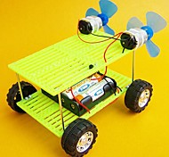 DIY Wind Force Double Fan Double Power Car Novelty Toys