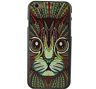 Cat Head Design Pattern Hard Cover for iPhone 6