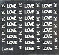 3d falschen Nagel Art Aufkleber Decals Tag Liebe Nagelzubehör Valentinstag für Nagelspitzen DIY Nagel-Kunst-Dekorationen
