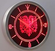 sinal albanês nc0400 neon bar pub águia levou relógio de parede