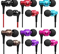 3.5mm Plug In-ear Earphone with Microphone & Volume Control for iPhone and Samsung And Others (Assorted Colors)