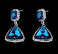 Fashion Triangle Crystal Drop Earrings