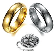 Rings Scripture Tungsten Steel Ring(Send Necklace)