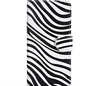 Attractive Zebra Style Pattern PU Leather Full Body Cover with Stand for HTC Desire 610