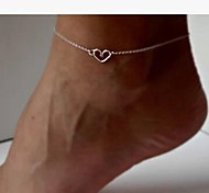 Women's Simple and Stylish Mini Heart-shaped Anklet