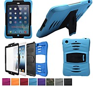 Hybrid Armor Series Shockproof Silicone Protective Case Cover with Kickstand for iPad Mini Retina/Mini(Assorted Color)