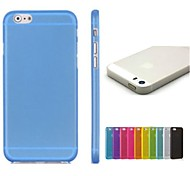 Solid Color TPU Soft Case for iPhone 6 (Assorted Colors)
