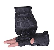 Glove Cycling / Bike All / Men's Fingerless Gloves Keep Warm / Windproof / Anti-skidding Spring / Summer / Autumn / Winter Black Others -