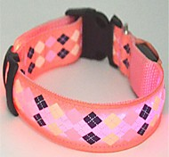 Cat / Dog Collars LED Lights Red / Pink Nylon