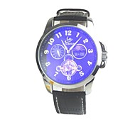 Men's Sports Automatic Chain Leather Strap Mechanical Watches