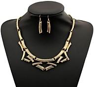 Ретро преувеличенные горячие серьги торговля ожерелье установить