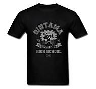 GINTAMA Gintoki Sakata(Gin Pa Sen Sei) Black Cotton Cosplay T-Shirt