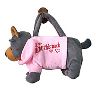 Brown Dog Design Plush Toys Soft Hand Bag(Random Color)