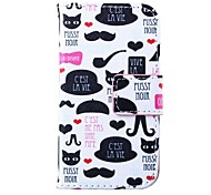 Beard Pipe Pattern PU Leather Full Body Case for iPhone 4/4S