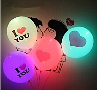 Coway Valentine's Day Lighting Balloon I LOVE YOU LED Luminous Balloon Giant Heart(Random Color)