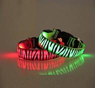 zebra listras colarinho Flash LED para cães (tamanho variados, cores sortidas)