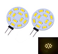 G4 W 12 SMD 5730 460 LM Warm wit 2-pins lampen DC 12 V