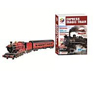 подарочное издание супер большой 83cm поезда модель 3d головоломки образовательные игрушки с 201pcs сборки