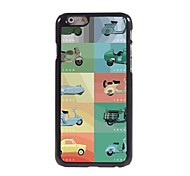 Motorcycle Pattern Aluminum Hard Case for iPhone 6