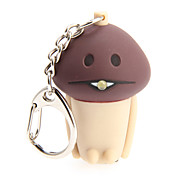 LED Lighting / Key Chain Mushroom Cartoon Key Chain / LED Lighting / Sound Khaki ABS / Plastic