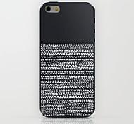 caso duro del patrón de rayas negro para el iphone 6