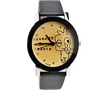 Women's Fashionable Style PU Leather Analog Quartz Wrist Watch(Assorted Colors)