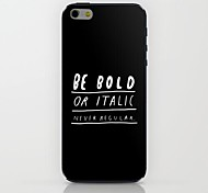 Black English Pattern hard Case for iPhone 6