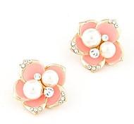 Boutique Fashion Sweet Temperament Pearl Flower Earrings