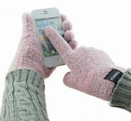Unisex 5-Finger Touch Screen Plush Winter Warm Gloves for iPhone/iPad (Assorted Colors)