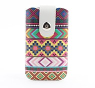 Aztec Tribal Pattern Pouch Bag Case with Metal Buckle and Belt Clip for iPhone 6