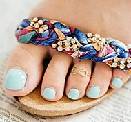 Women's European Fashion Lucky 8 Alloy Toe Ring (1 Pc)