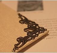 20шт / комплект формы цветка металла старомодные вещи угол фотоальбом палка бронзовый цвет