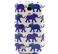 Elephant Pattern TPU Soft Back Cover for Samsung Galaxy S4Mini l9190