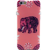 Pink Elephant Pattern Hard Case for iPhone 6