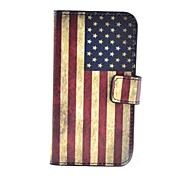 American Flag Pattern PU Leather Case with Stand and Card Slot for Samsung Galaxy Core Plus G3500/Trend 3 G3502