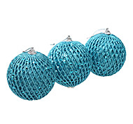 3.2inch Set Of 3 Christmas Ornament Tennis ,PVC
