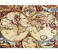 mapa de quebra-cabeça de brinquedo pintura antiga mundial de petróleo 1000 peças