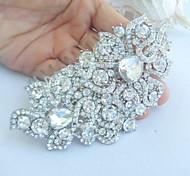 rhinestone della lega cristallo fiore capelli sposa copricapo pettine da sposa d'epoca delle donne