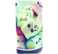 Towel Cake Pattern PU Leather Cover with Stand and Card Slot for iPhone 6 Plus