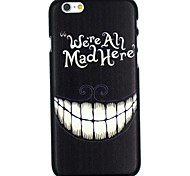 Grinning with Words Pattern PC Hard Back Cover Case for iPhone 6