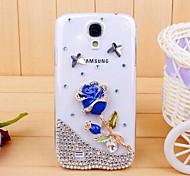 Diamant-blaue Rose Hülle für Samsung Galaxy S4 Mini i9190
