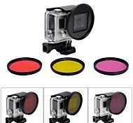 gato gordo 58mm profesional kit de filtro de buceo bajo el agua de corrección de color w / convertidor para Hero GoPro 04.03 +
