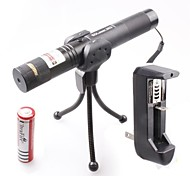 LT-0674 Muti-patterns Full Star Adjustable Focus Burning Lighter Cutting Green Laser Pointer Kits(3mw,532nm,1xCR18650)
