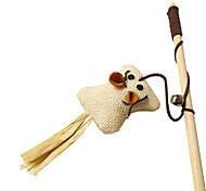 кошка игрушка натуральный лен игры палка ассорти торговый